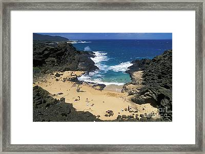 Halona Cove Framed Print by Greg Vaughn - Printscapes