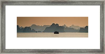 Halong Bay Framed Print by Peter Verdnik