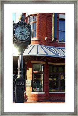 Haltoms Diamonds Clock Framed Print