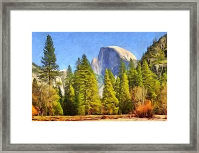 Halv Dome Yosemite Framed Print