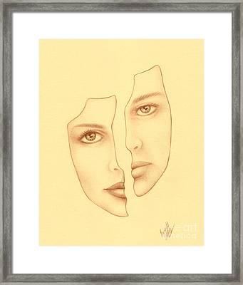 Halves Framed Print by Enaile D Siffert