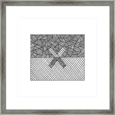 Halves Framed Print
