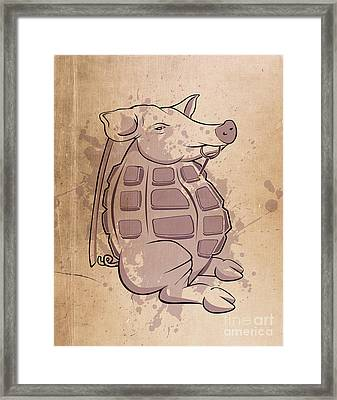 Ham-grenade Framed Print by Joe Dragt