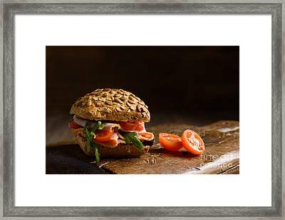 Ham Salad Roll Framed Print by Amanda Elwell