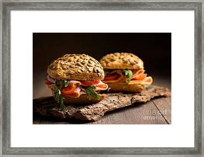 Ham Salad Rolls Framed Print by Amanda Elwell