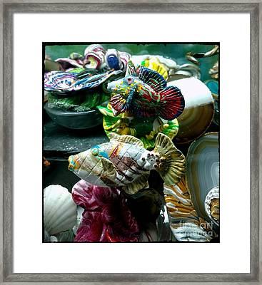 Hama Hama Trigger  And Mandarin Goby Framed Print