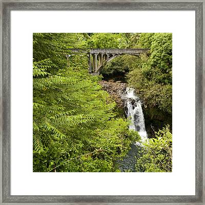 Hamakua Bridge Framed Print by Charlie Osborn