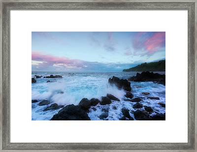 Framed Print featuring the photograph Hamakua Sunset by Ryan Manuel