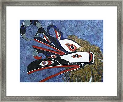 Hamatsa Masks Framed Print by Elaine Booth-Kallweit