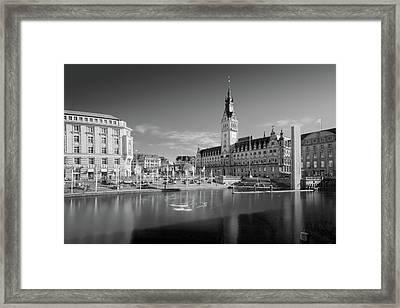 Hamburg - Binnenalster Framed Print
