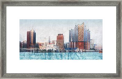 Framed Print featuring the photograph Hamburg Abstract by Marc Huebner