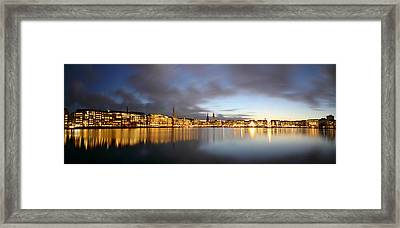 Hamburg Alster Christmas Time Framed Print