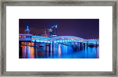 Framed Print featuring the photograph Hamburg Blue Port 2015 by Marc Huebner