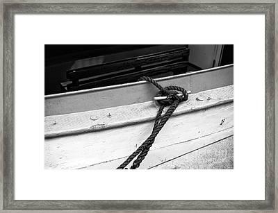 Hamburg Boat Knot Mono Framed Print by John Rizzuto