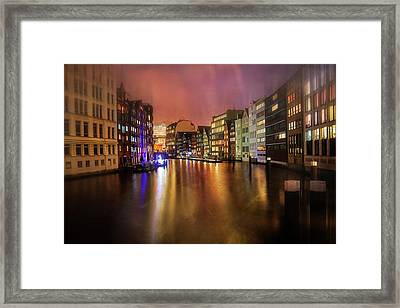 Hamburg By Night  Framed Print