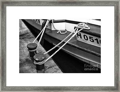 Hamburg Double Boat Tie Out Mono Framed Print by John Rizzuto