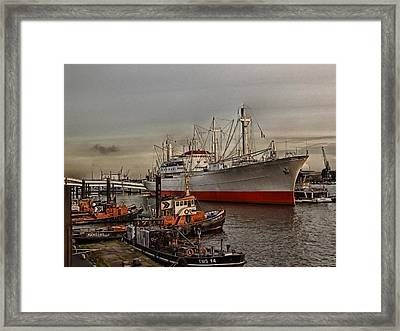 Hamburg Harbor Framed Print by Joachim G Pinkawa