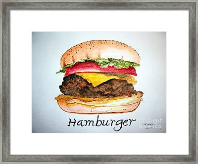 Hamburger 1 Framed Print