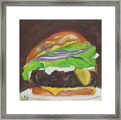 Hamburger Heaven Framed Print by Irit Bourla