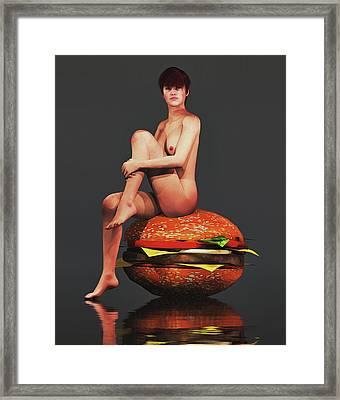 Hamburger Framed Print by Jan Keteleer