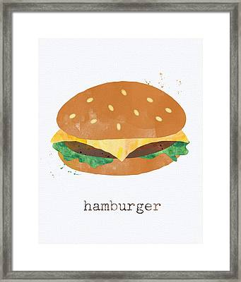 Hamburger Framed Print by Linda Woods