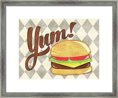 Hamburger Yum Framed Print