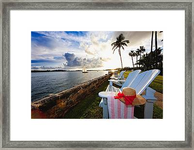 Hamilton Bay Sunset  Framed Print by George Oze