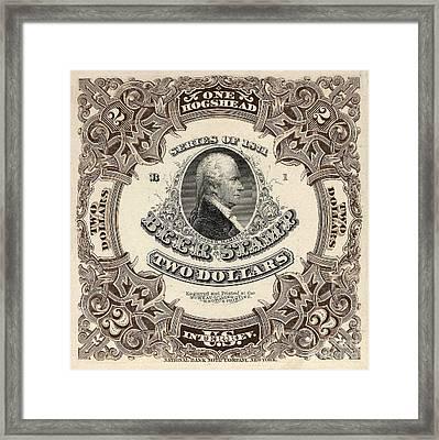 Hamilton Beer Revenue Stamp  Hogshead  Framed Print