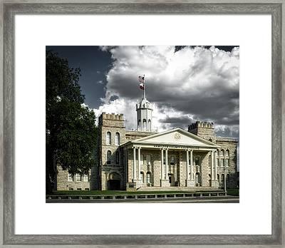 Hamilton County Courthouse - Hamilton Texas Framed Print by Mountain Dreams