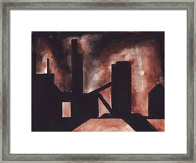 Hamilton Ontario Industrial Framed Print