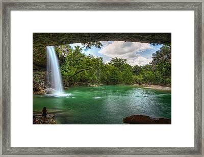 Hamilton Pool Falls Framed Print by Tom Weisbrook