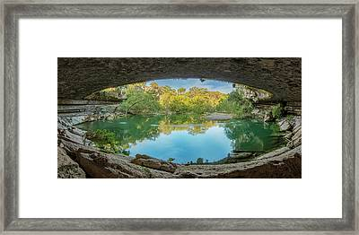 Hamilton Pool In The Texas Hill Country 1 Framed Print by Rob Greebon