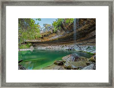 Hamilton Pool In The Texas Hill Country In October 1 Framed Print by Rob Greebon