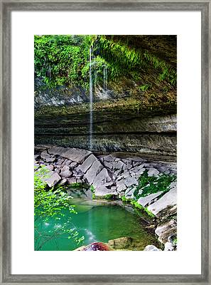 Hamilton Pool Framed Print by Mark Weaver