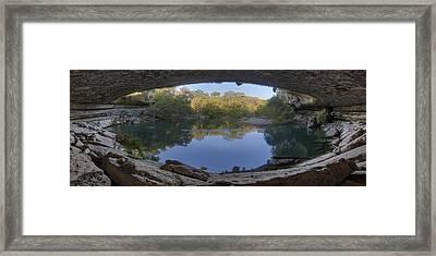 Hamilton Pool Morning Panorama 1 Framed Print by Rob Greebon