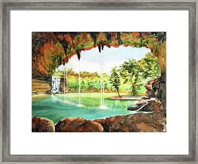 Hamilton Pool Texas Framed Print