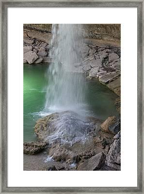 Hamilton Pool Waterfall Framed Print by Teresa Wilson