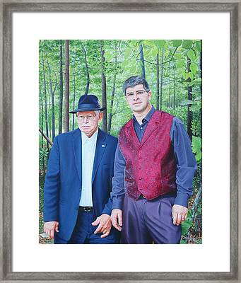Framed Print featuring the painting Hamilton Portrait by Mike Ivey