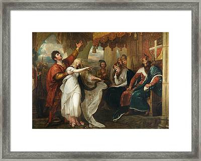 Hamlet- Act Iv, Scene V  Framed Print by Benjamin West