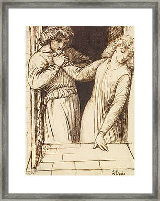 Hamlet And Ophelia - Compositional Study Framed Print by Dante Gabriel Rossetti