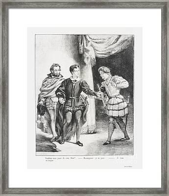 Hamlet Et Guildenstern Framed Print