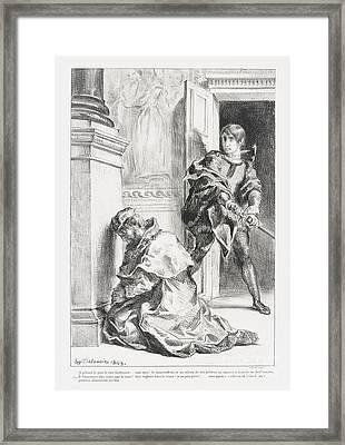Hamlet Tente De Tuer  Framed Print