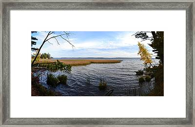Framed Print featuring the photograph Hamlin Lake In Autumn by Michelle Calkins
