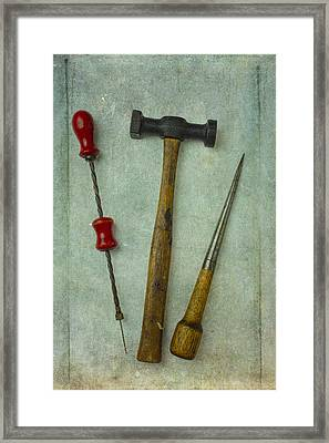 Hammer Drill And Punch Framed Print by Garry Gay