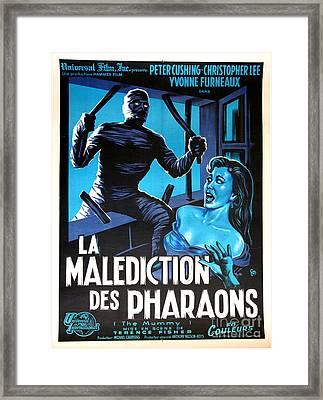 Hammer Movie Poster The Mummy La Malediction Des Pharaons Framed Print