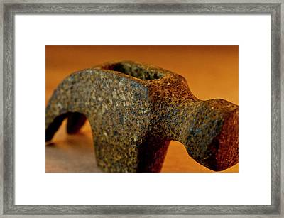 Hammer Without Handle Framed Print by Wilma  Birdwell