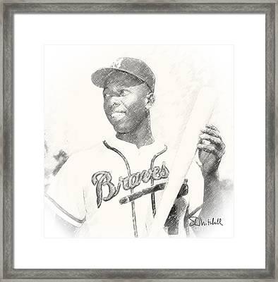 Hammerin' Hank Framed Print