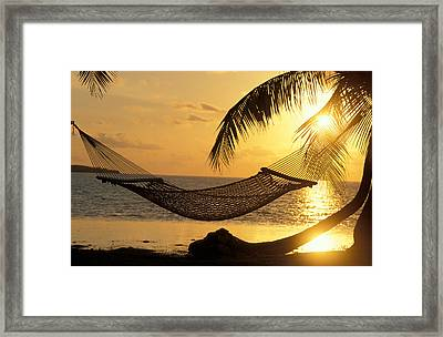 Hammock At Sunset Framed Print by Panoramic Images