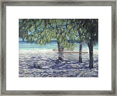 Hammock For Two Framed Print by Danielle  Perry
