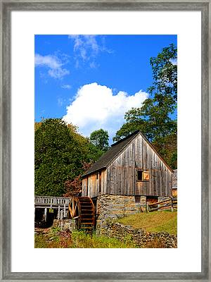 Hammond Gristmill Rhode Island Framed Print by Lourry Legarde